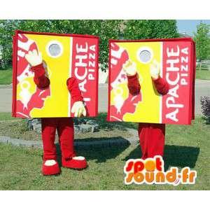 Maskottchen Pizzakartons.Packung mit 2 - MASFR006073 - Maskottchen-Pizza