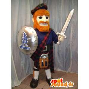 盾と剣を持った伝統的なスコットランドのマスコット-MASFR006074-兵士のマスコット