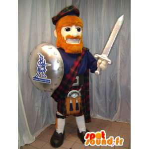 Scottish traditional mascot with a shield and a sword - MASFR006074 - Mascots of soldiers