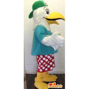 Mascot gaivota feriado. Costume Seagull