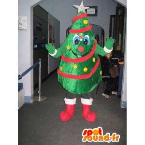飾られたクリスマスツリーのマスコット。クリスマスツリーのコスチューム-MASFR006078-クリスマスのマスコット