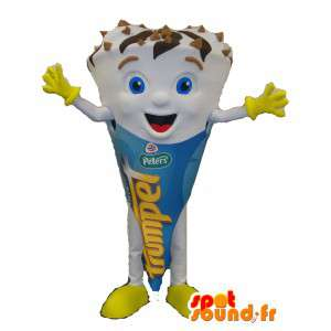 Mascot gigante di ghiaccio, crema, cono