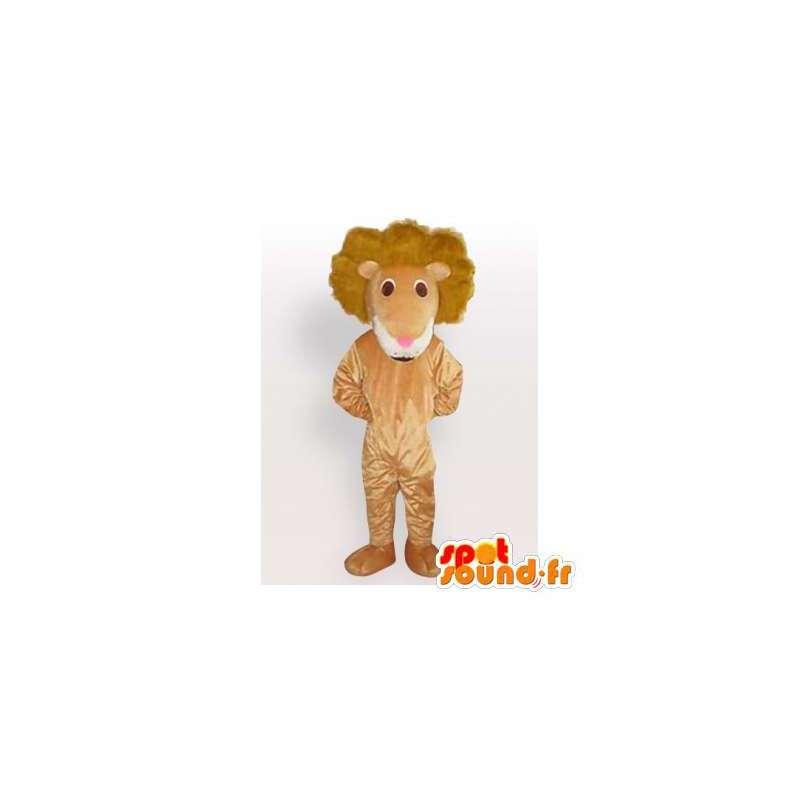 Lion mascot plush beige. Lion costume - MASFR006083 - Lion mascots