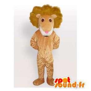 Löwe-Maskottchen beige Plüsch.Lion Kostüm - MASFR006083 - Löwen-Maskottchen