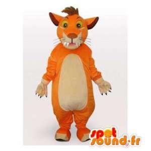 Mascotte de tigre orange. Costume de tigre