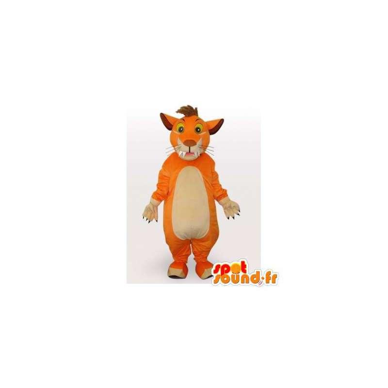 Mascotte de tigre orange. Costume de tigre - MASFR006087 - Mascottes Tigre