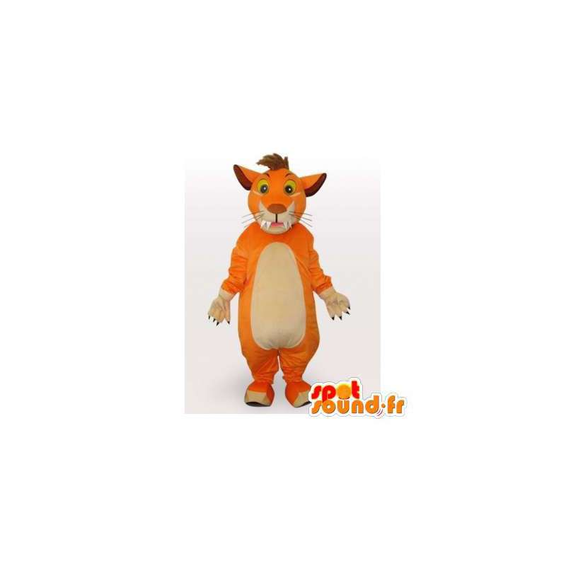 Oranžové tygr maskot. Tiger Suit - MASFR006087 - Tiger Maskoti