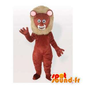 Brown lion mascot. Lion costume