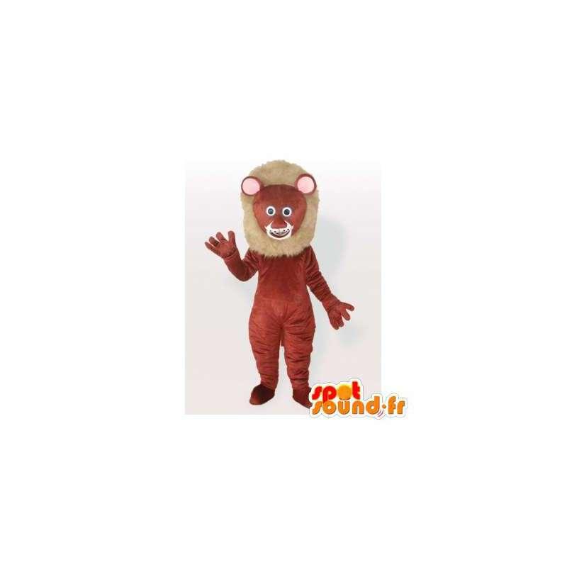 Brown lion mascot. Lion costume - MASFR006092 - Lion mascots