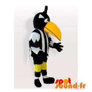 Sort og hvid toucan maskot. Toucan kostume - Spotsound maskot