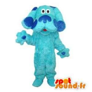 Maskotti vaaleansininen koira. Sininen Dog Costume - MASFR006101 - koira Maskotteja