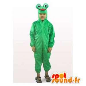 Maskot tak pyžama zelená žába