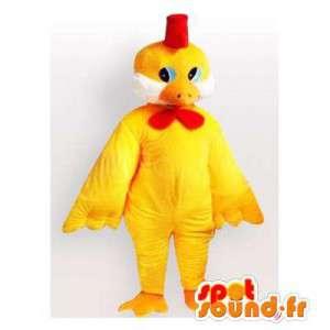 巨大なサイズの黄色いオンドリのマスコット。黄色いオンドリのコスチューム-MASFR006118-チキンマスコット-オンドリ-チキン
