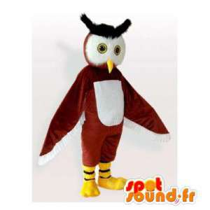Maskotka brązowe i białe sowy. Kostium sowy - MASFR006123 - ptaki Mascot