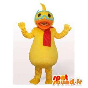Maskotka Daisy znanym dziewczyną Donald. kostium Daisy