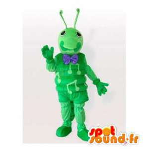 Mier mascotte, groen cricket. Ant Suit