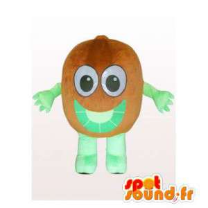 Mascot kiwi brown and green giant. Kiwi costume