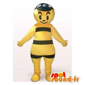 Mascot gelbe und schwarze Menschen.Kostüm gelbe Kerl - MASFR006138 - Menschliche Maskottchen