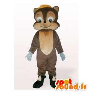 Ruskean ja beigen orava maskotti - MASFR006140 - maskotteja orava