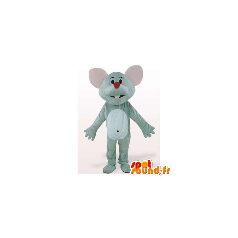 Mascot mouse gray and white - MASFR006142 - Mouse mascot