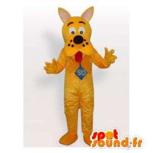 Mascotte de chien jaune en peluche. Costume de chien - MASFR006147 - Mascottes de chien