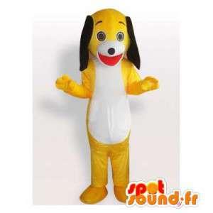 Gul hundemaskot. Gul hundedragt - Spotsound maskot kostume