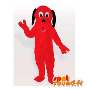Punainen koira maskotti. Red Dog Costume - MASFR006151 - koira Maskotteja