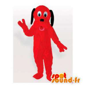 Rød hund maskot. Rød hundedragt - Spotsound maskot kostume
