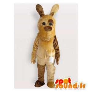 Mascot dog brown and beige. Dog costume - MASFR006155 - Dog mascots