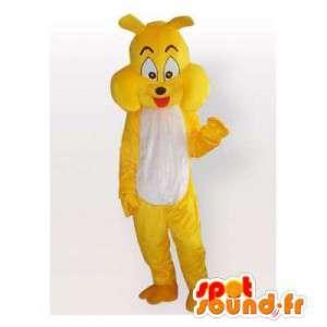 Gul maskot bulldog. Costume bulldog - MASFR006162 - Dog Maskoter