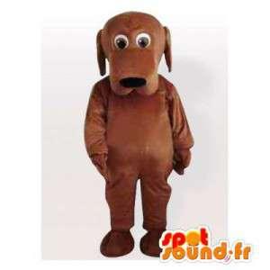 Anpassningsbar brun hundmaskot - Spotsound maskot