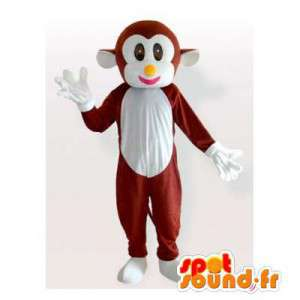 Mascot monkey brown and white