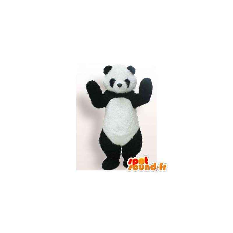 Zwart-witte panda mascotte. Panda Suit - MASFR006180 - Mascot panda's