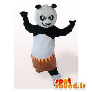 Mascot Kung Fu Panda. traje de banda desenhada