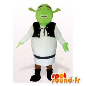 Shrek maskot, která je známá kreslená postavička
