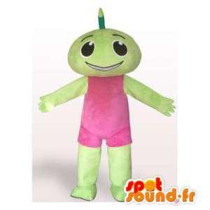 Mascot grünen Mann gekleidet in rosa - MASFR006188 - Menschliche Maskottchen