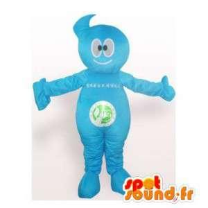 Alle blauen Schneemann-Maskottchen - MASFR006189 - Menschliche Maskottchen