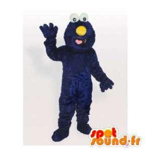 Mascotte de monstre bleu