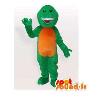 Verde e amarelo mascote tartaruga. Costume Turtle
