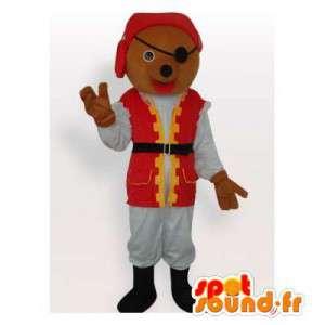 Mascotte d'ours habillé en...