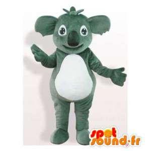Mascot grau und weiß Koala.Koala-Klage