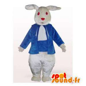 Mascot white rabbit with a...
