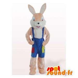 Maskebeige kaninoveralls. Bunny kostume - Spotsound maskot