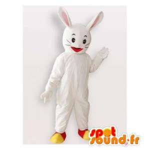 Wit konijn mascotte....