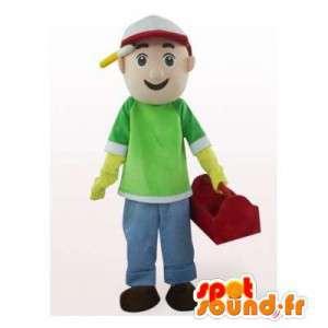 Mascot worker. Suit handyman