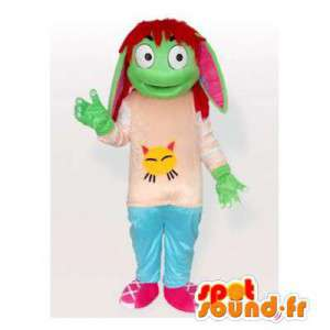Mascot grüne Elfe.Green...
