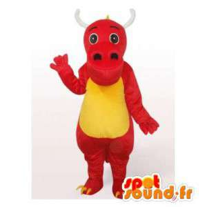 Dinosaur mascot red and yellow. Dinosaur Costume