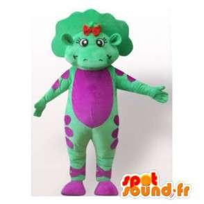 Dinosaur mascot green and purple. Dinosaur Costume - MASFR006288 - Mascots dinosaur