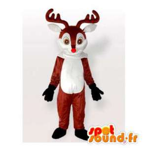 Reindeer Mascot brown and white. Reindeer costume