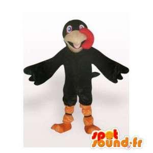 Mascot raven black. Raven costume - MASFR006302 - Mascot of birds